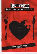 (FT593) Lupen Crook, The Pros And Cons Of Eating Out - 2010 DJ CD / Book