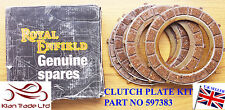 ROYAL ENFIELD MOTORCYCLE BIKE SPARE PARTS 4 PCS CLUTCH PLATE FRICTION KIT#597383