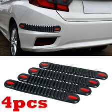 4Pcs Accessories Car Bumper Edge Guard Protector Rubber Pad Cover Trim Cover