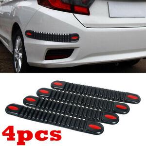 4Pcs Accessories Car Bumper Edge Guard Protector Rubber Pad Cover Trim Cover