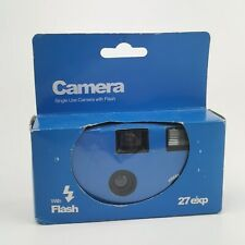 ~ Disposable Camera ~ Blue Casing Boxed ~ 27 Shots With Flash ~ EXPIRED 2016 ~