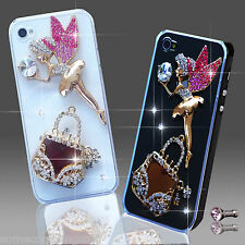 NEW 3D DELUX LUXURY BLING ANGEL HANDBAG DIAMANTE CASE 4 IPHONE SAMSUNG SONY HTC