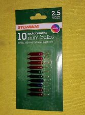 Sylvania Christmas Replacement Mini Lights Multi Color 10ea Bulbs V1163-1 - NEW