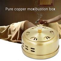 Pure cuivre acupuncture Moxa boîte moxibustion thérapie Moxa Stick brûleur PM