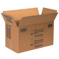"Box Partners Paint Can Boxes 2 - 1 Gallon 17"" x 8 1/2"" x 9 5/16"" Kraft 25/Bundle"
