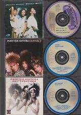 POINTER SISTERS Break Out~Contact~Hot Together {JAPAN} Disc 3 CD Lot 1980s Dance