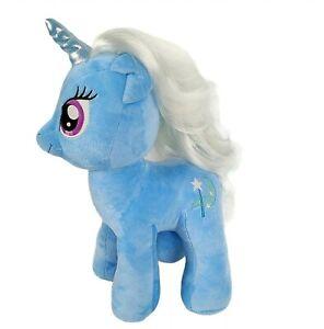 "My Little Pony Build A Bear Trixie Lulamoon Unicorn 16"" Blue Plush Horse BAB Toy"