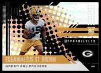 2018 PANINI UNPARALLELED PACKERS EQUANIMEOUS ST. BROWN RC NOTRE DAME FIGHTING