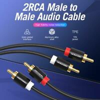 Vention 2RCA Male to 2RCA Male Stereo Audio Adapter Cable RCA Jack Splitter Wire