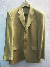 Magee 42 R Mans Blazer Jacket Wool Silk Button Gold Yellow Light Sports Preppy