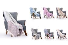 More details for leo-design 100% cotton bedspread blanket sofa bedding throw settee king luxury