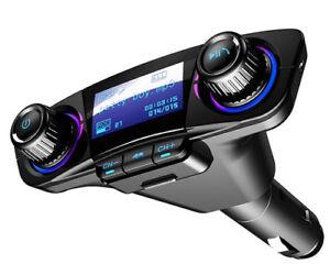 "Dual USB Car Audio LED 1.3"" MP3 FM Transmitter Bluetooth Handsfree Smart Charge"