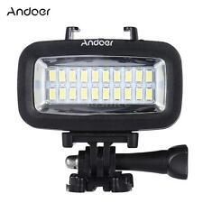 Andoer 700LM Diving Video LED Light Lighting Waterproof for GoPro SJCAM etc Q3J0