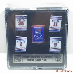 NY Rangers 1994 Stanley Cup Champions Retired Jersey Pin Set - New/Sealed
