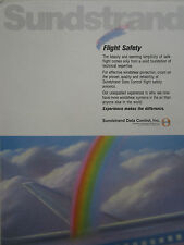 7/1989 PUB SUNDSTRAND DATA CONTROL FLIGHT SAFETY SYSTEMS AIRLINER ORIGINAL AD