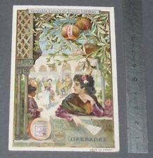 CHROMO LIEBIG 1900 S 630 FRUITS FEMMES EN COSTUME GRENADES WOMEN IN COSTUMES