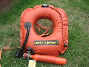 Vintage ABLJ adjustable buoyancy life jacket Spirotechnique diving life jacket