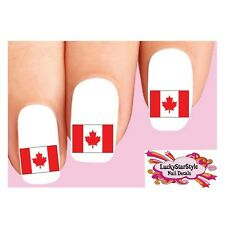 Waterslide Nail Decals Set of 20 - Canada Canadian Flag