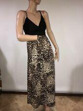 Derek Heart  Animal Print Halter Maxi Dress Size M
