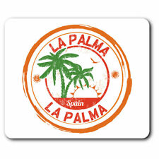 Computer Mouse Mat - La Palma Spain Espana Palm Trees Office Gift #6101