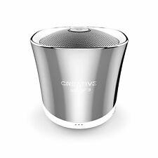 High Quality Bluetooth Wireless Speaker Creative Woof3 Micro Sized Winter Chrome