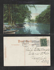 1907 SCENE ON THE OUTLET SYRACUSE NY POSTCARD