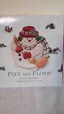 Fritz and Floyd Plaid Christmas Snowman Canape Iob