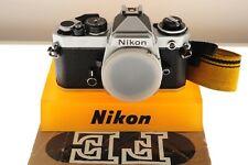 Nikon FE silver auto/manual Pro SLR. EXC+ condition +manuals+strap. Classic!