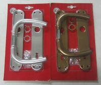 Maniglia x porta placca foro chiave 90 in alluminio colore argento o bronzo 801