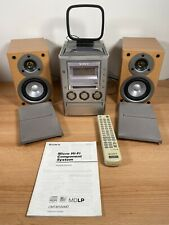 SONY CMT-M100MD CD, TAPE, MINIDISK, TUNER Micro HiFi System Inc Remote - Working