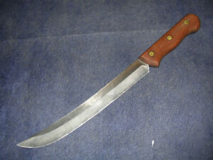 """Scarce Vintage Chicago Cutlery U.S.A. 45S 10"""" Scimitar or Steaking Knife! NICE!"""