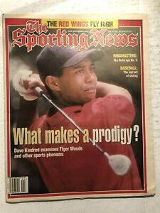 1997 Sporting News TIGER WOODS The MASTERS Newsstand What Makes A PRODIGY? N/Lab