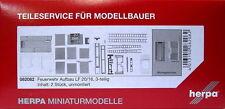 Herpa 082082 Feuerwehr Aufbau LF20 16 3teilig 2 Stück Scale 1 87 NEU OVP