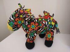 BeePosh Melissa & Doug Colorful ZEBRA Plush Stuffed Animal Horse Hippie