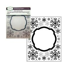Christmas Eve's Snowflakes Frame Embossing Folder Creative Expressions Folders