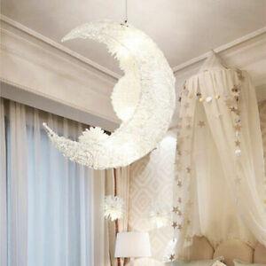 Modern Moon Star LED Pendant Lamp Chandeliers Light For Children Bedroom Decor