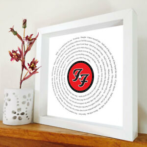 Foo Fighters - lyric print - Foo Fighters artwork - Any song - Rock gift - Music
