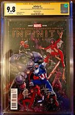 Infinity #1 C Heroes Variant 1/100 GCG 9.8 SS, SIgned x3: Adams, Cheung, Morales