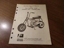 Rupp Minibike Parts List 13970 1969 Chopper