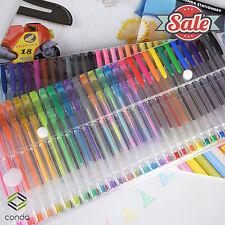 120 Gel Pen Set UNIQUE Color Metallic CONDA Classic Glitter Art Book Color