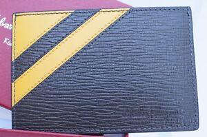 New Salvatore Ferragamo Men's CC Holder Wallet Credit Card Brown