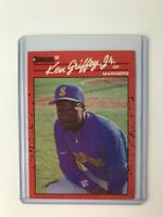 KEN GRIFFEY JR. 1990 DONRUSS SEATTLE MARINERS BASEBALL CARD #365  !!!