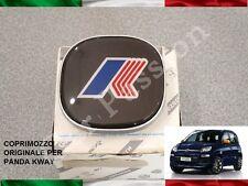 1 COPRIMOZZO FIAT PANDA KWAY 2012> ORIGINALE stemma HUB CAP borchia LOGO grigio