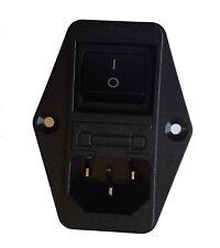 Male Socket Panel Mount Power Line EMI IEC Inlet Filter AC 120V/250V 6A By Atomi