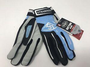 New Louisville Slugger Series 5 Batting Gloves Black/Royal/White Adult XX-Large