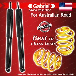 Rear Gabriel Classic Shocks + Lowered King Coil Springs for Fiat 124 Sedan Coupe