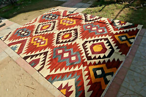 Stunning Natural Vgetable Dye Shahi Turkish Area Size Rug,Vintage Cochineal Vegi