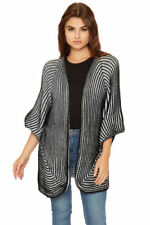 Hip Length Acrylic Short Sleeve Jumpers & Cardigans for Women