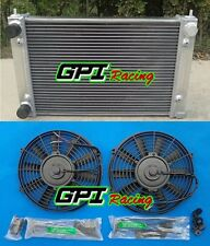 For VW Golf MK2 MK II 1.6 8V and 1.8 16V MT 1982-1992 Aluminum Radiator + Fans