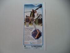 advertising Pubblicità 1980 LONGINES CONQUEST